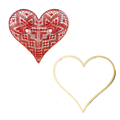 O529 pattern with heart-frame